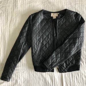 H&M Leather Bomber Jacket